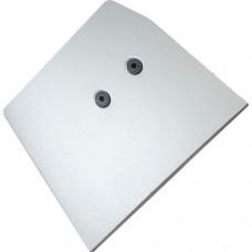 Заглушка STANLUX алюминиевая ПРАВАЯ-короткая 11196000