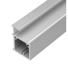 Профиль квадратный 45х30 мм для стеклянных полок  132300 под стекло 6/8 мм L-2,75 м