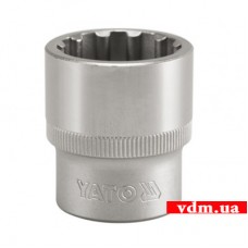 """Головка торцевая YATO Spline 1/2"""" 12 мм (YT-1464)"""