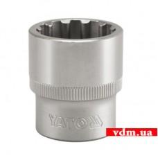 """Головка торцевая YATO Spline 1/2"""" 22 мм (YT-1474)"""